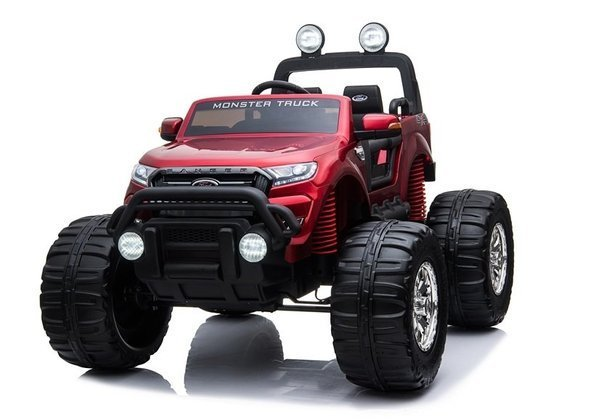 Ford Ranger Monster Red Painting LCD - Electric Ride On Car